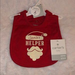 🎅🏻🤶🏻 Carter's Santa's Helper Bib